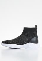 Sissy Boy - Spaced out sock boot - black