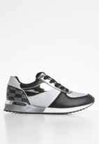 Sissy Boy - Monochrome magic sneaker - black & silver
