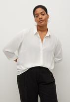 Violeta by Mango - Plus blouse laurel - white