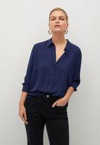 Violeta by Mango - Plus blouse laurel - navy
