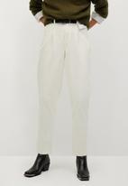 MANGO - Trousers panna - neutral