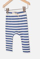 Cotton On - Johnny legging - hannah stripe petty blue/vanilla
