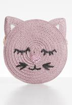 Cotton On - Raffia kitty jayme critter bag - purple