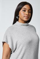 Superbalist - Soft touch sleeveless poloneck top - grey