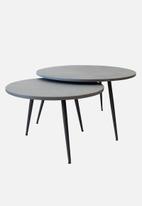 Hertex Fabrics - Dibeng round table - grey 75cm x 42cm