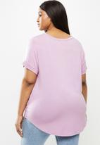 Cotton On - Curve Karly short sleeve tee - purple