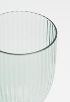 Excellent Housewares - Ridge wine glass set of 4 - blue