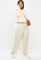 Cotton On - Curve super soft draw cord crew - neutral