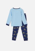 Cotton On - Orlando long sleeve pyjama set - blue