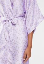 Cotton On - Satin robe - purple