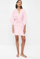 Cotton On - Satin robe - pink