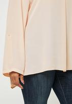 edit Plus - Rolled sleeve  blouse - swan