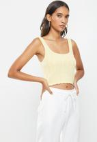 Cotton On - Rib square neck tank - yellow
