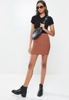 Cotton On - Blair knit mini skirt - rust