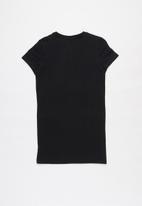 FILA - Mono deckle T-shirt dress - black