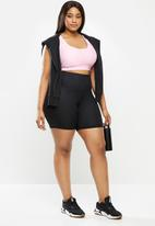 Cotton On - Curve strappy sports crop - pink