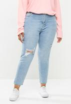 Cotton On - Curve Taylor mom jeans - blue
