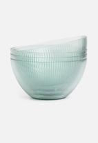 Excellent Housewares - Ridge bowl set of 4 - blue