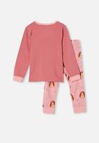 Cotton On - Florence long sleeve pyjama set - pink