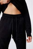 Cotton On - Lifestyle gym track pant - black