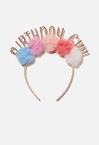 Cotton On - Headband - birthday - multi