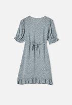 Free by Cotton On - Malu short sleeve dress - steel