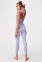 Cotton On - Love you a latte 7/8 active tight - dot to dot chalky lavender