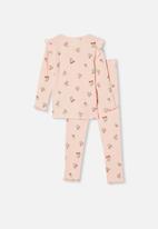 Cotton On - Layla long sleeve pyjama set - floral crystal pink