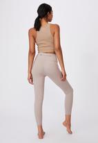 Cotton On - Ultimate booty 7/8 tight - taupe