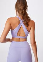 Cotton On - Workout cut out crop - chalky lavender texture