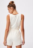 Cotton On - V-neck vestlette - buttermilk