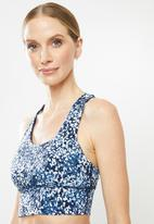 Cotton On - Ultimate longline crop - blue & white