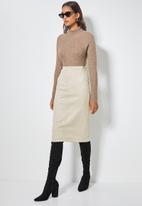 Superbalist - Pencil midi skirt - beige