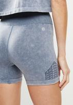 Cotton On - Lifestyle seamless yoga short - blue