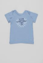 Superbalist Kids - Baby boys 2 pack graphic top - blue & white