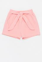 POP CANDY - Girls paperbag waist shorts - pink