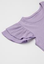 POP CANDY - Girls ruffle top & shorts set - purple