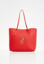 POLO - Gold pony tote bag - red