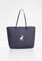 POLO - Gold pony tote bag - navy