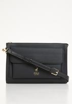 POLO - Gold pony sling bag - black