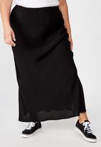 Cotton On - Curve all day slip skirt - black
