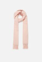 edit - Fringed infinity scarf - pink