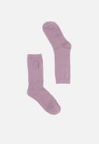 Cotton On - Womens novelty socks - purple