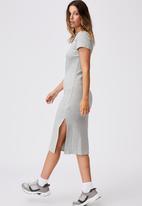 Cotton On - Essential split short sleeve midi dress - grey marle