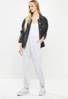 Cotton On - High waist track pant - grey