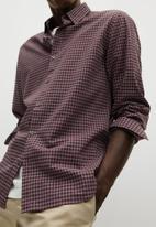 MANGO - Vichy shirt - red check