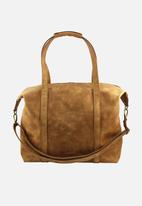 Escape Society - Full grain leather nomadic weekender - tan