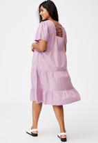 Cotton On - Curve woven tammy midaxi dress - soft mauve