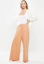Cotton On - Wide leg lounge track pant - rust