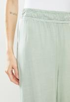 Cotton On - Wide leg lounge track pant - green